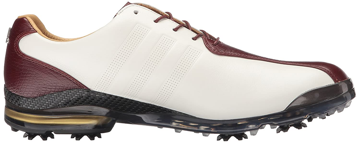 reputable site 2dda1 0437f Adidas Men s Adipure TP Golf Cleated Madera blanca  roja