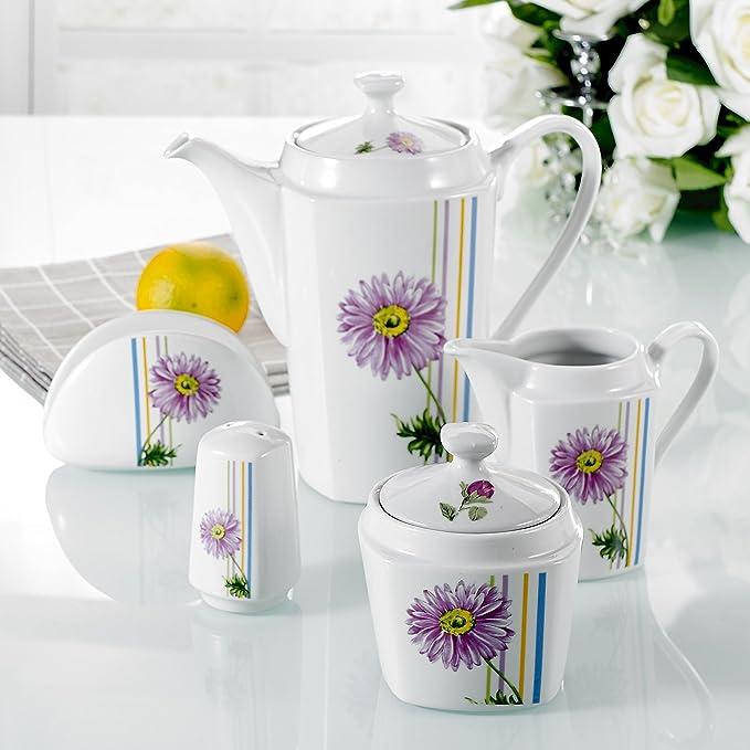 vancasso 5-Piece set include kettle,sugar bowl,milk jug,pepper shaker,napkin holder