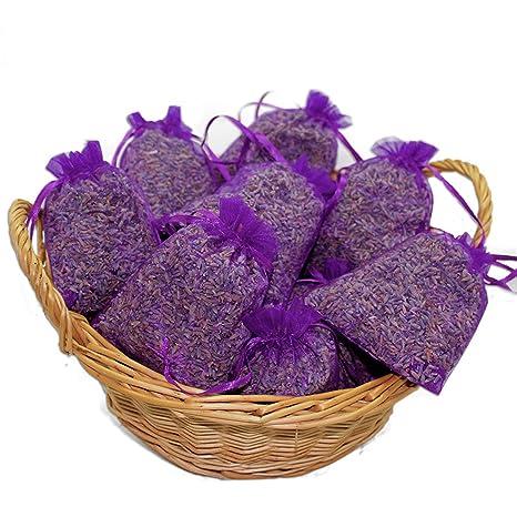 vom-Achterhof 10 Lavendelsäckchen mit 200 g !!!! frischen französischem Lavendel Lavendelblüten der Provence in Lebensmittelq