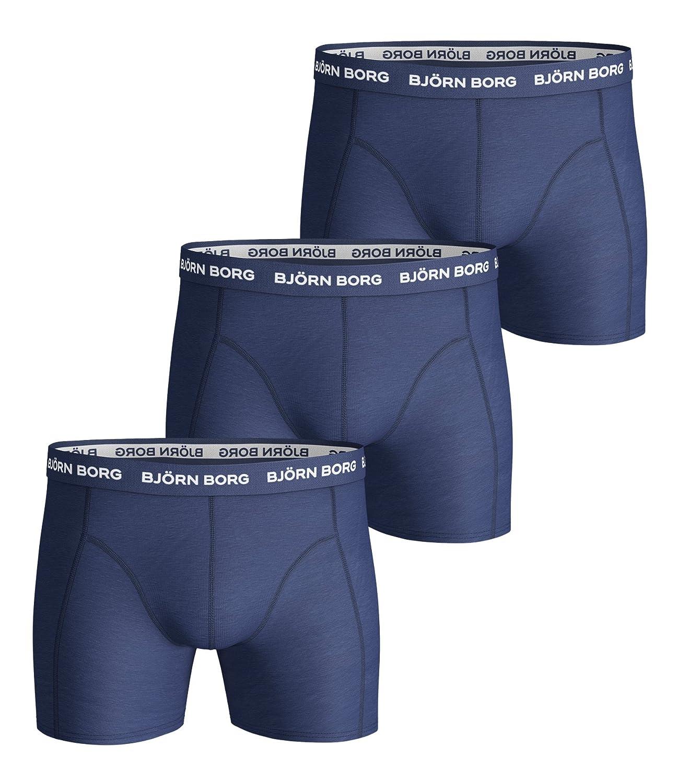 Blue Depths S Bjorn Borg Mens 3p Shorts NOOS Solids