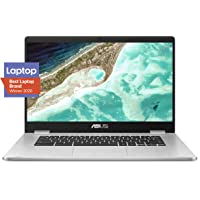 "ASUS Chromebook C523 15.6"" HD NanoEdge Display with 180 Degree Hinge Intel Dual Core Celeron N3350 Processor, 4GB RAM…"