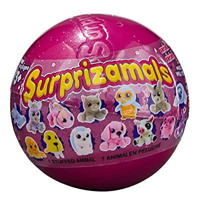 Surprizamals Series 8 Mystery Plush Figure Ball, 1 Count: Toys & Games