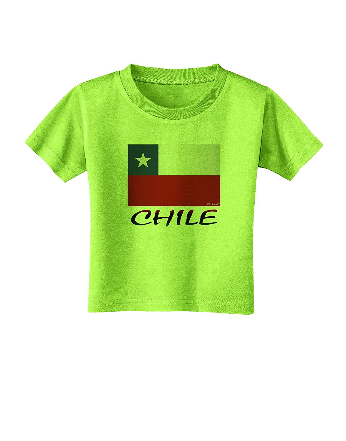 TooLoud Chile Flag Toddler T-Shirt