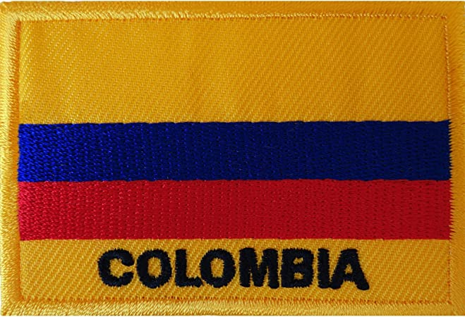 Columbia Flag Patch various sizes Badge//Embroidered//Iron on//Sew on