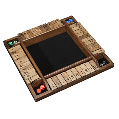 WE Games - The Original Shut the Box Dice Game - 4 Players can play at the same time for the Classroom, Home or Pub - Large Size: Toys & Games