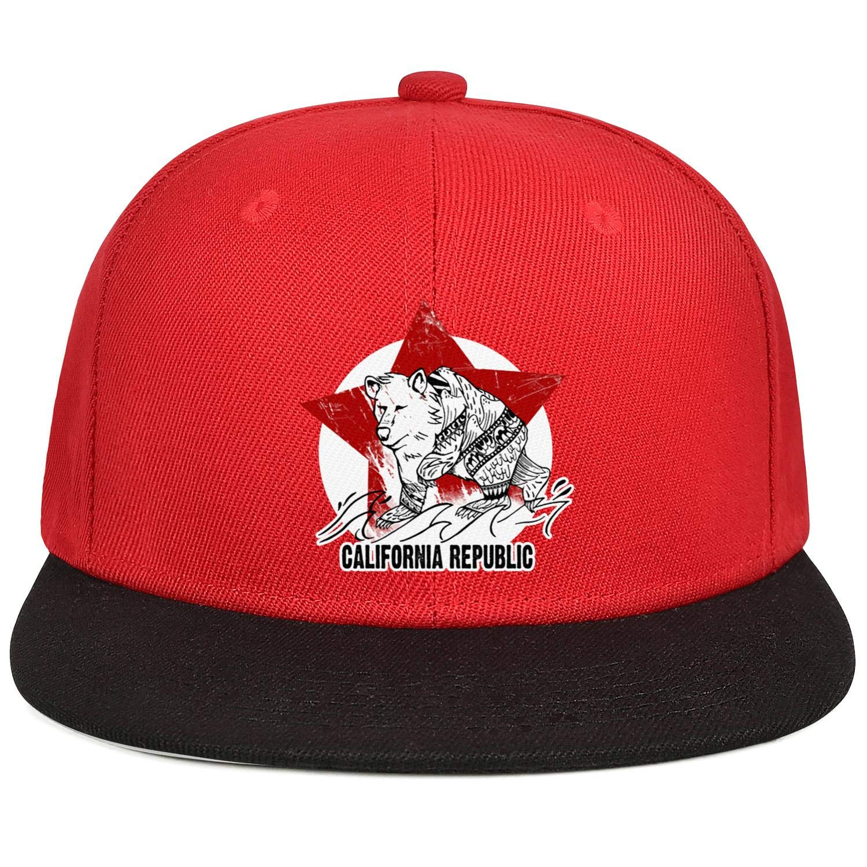 KYTKYTT Unisex Mesh Snapback Caps California Bear Star Flat Bill Hip Hop Baseball Hat