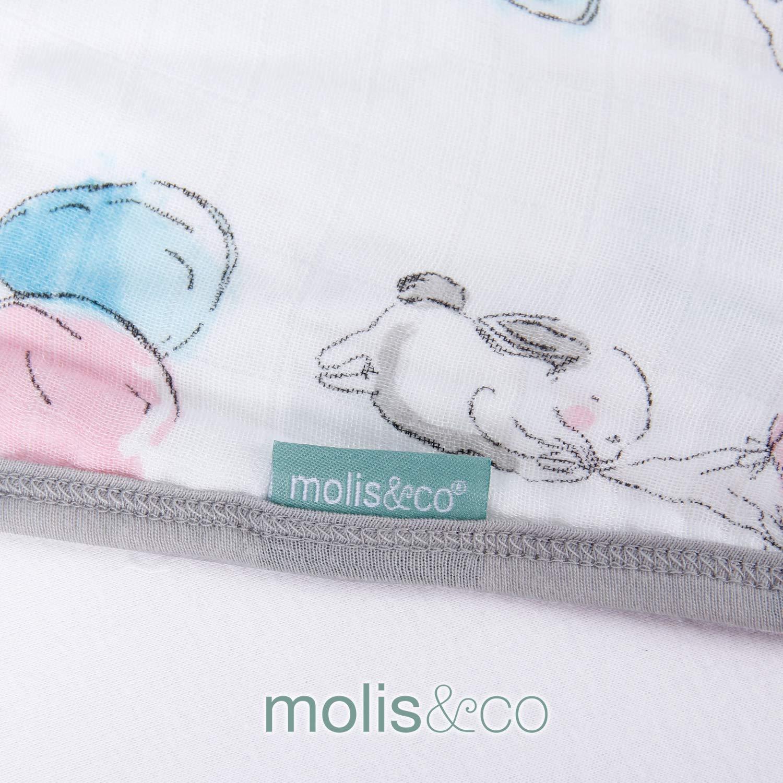 Super Soft and Light Muslin Wearable Blanket Unisex Kiwi Print 31.5 0.5 TOG molis/&co Baby Sleep Bag and Sack 6-12 Months