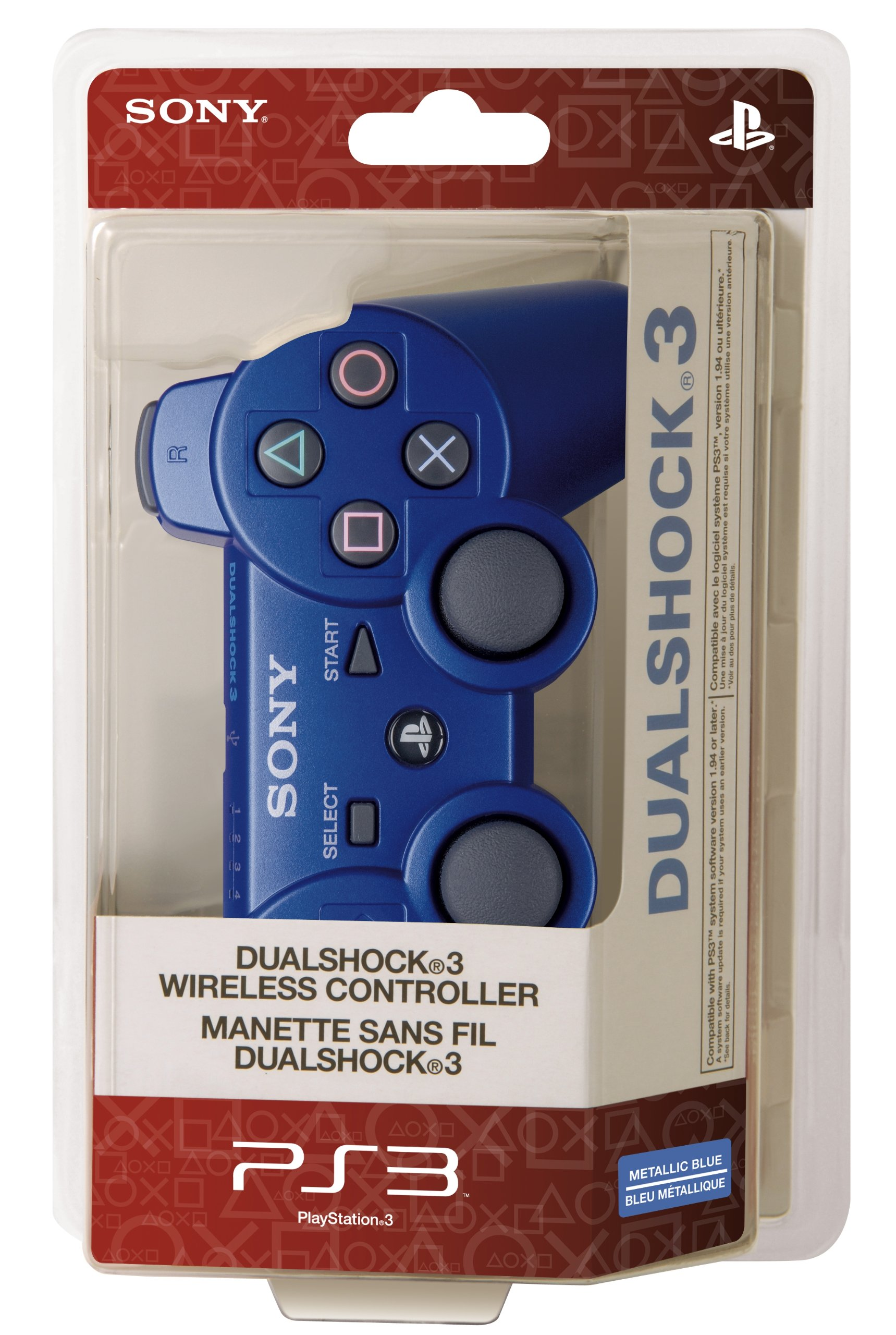 PlayStation 3 Dualshock 3 Wireless Controller (Blue) by Sony