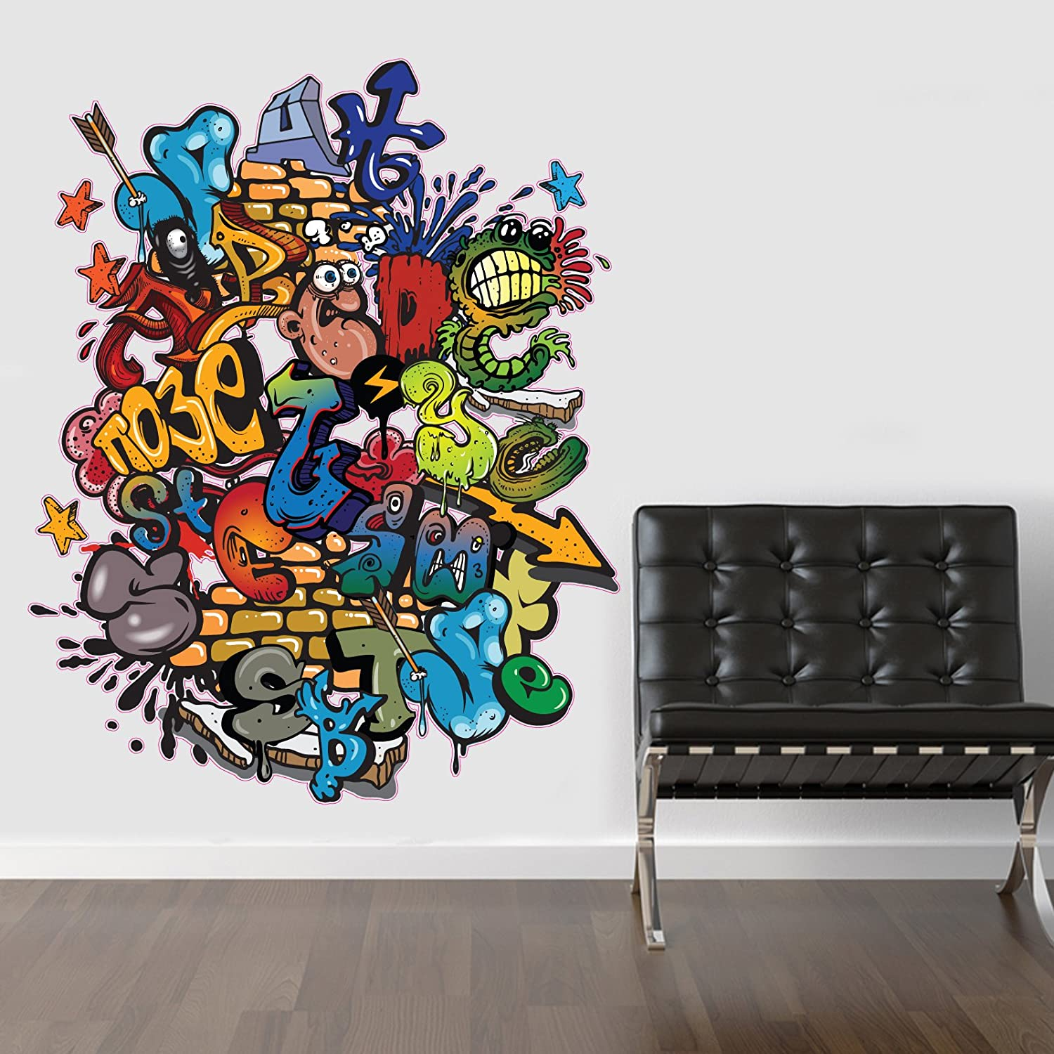 VC Designs Ltd TM LARGE Full Colour Graffiti Wall Sticker Wall