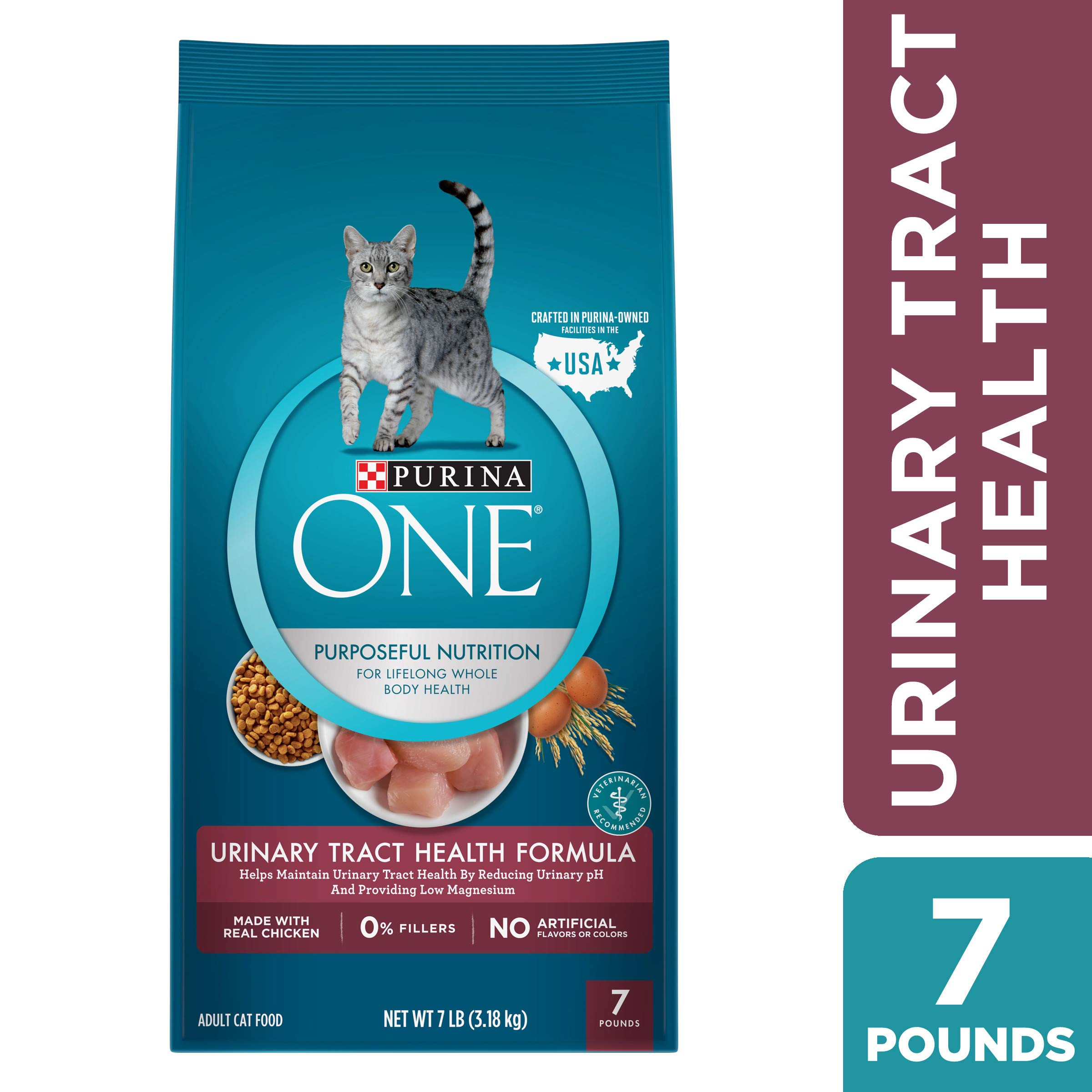 Purina ONE Urinary Tract Health Dry Cat Food, Urinary Tract Health Formula - 7 lb. Bag by Purina ONE