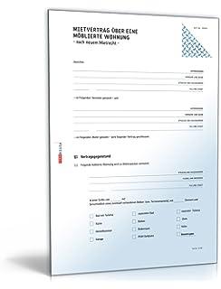 Avery Zweckform 2233e Mietvertrag Möblierte Wohnung Word Download