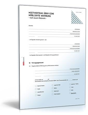 Mietvertrag Möblierte Wohnung Doc Download Amazonde Software