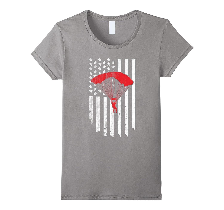 Skydivers AMERICAN Flag t-shirt