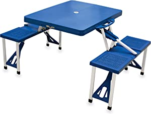 ONIVA - a Picnic Time Brand Portable Folding Picnic Table with Seating for 4, Blue