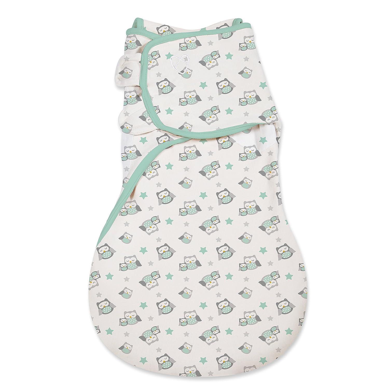 SwaddleMe Wrap Sack LG Neutral Owls Summer Infant 55354