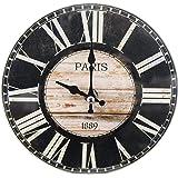 パール金属 卓上 ガラス 時計 置時計 掛け時計 兼用 ROUND 17cm 13A1301 N-8190