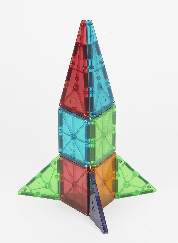 Amazon.com: Magna-Tiles Clear Colors 100 Piece Set: Industrial ...