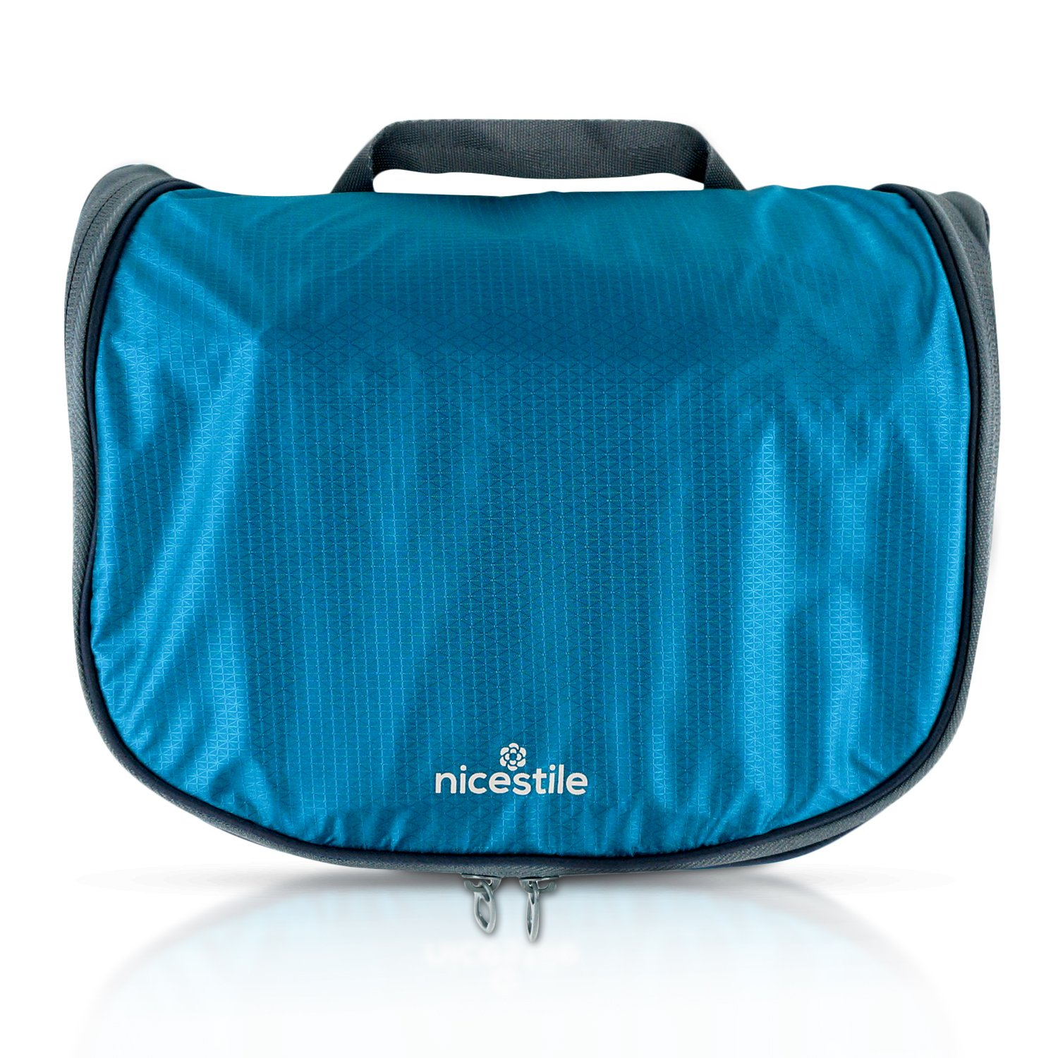 NICESTILE Lightweight Hanging Toiletry Bag for Men and Women - Medium 10.5 x 9.5 x 3.5 in (closed) - Ultralight Toiletry Bag for Business Travel and Backpacking