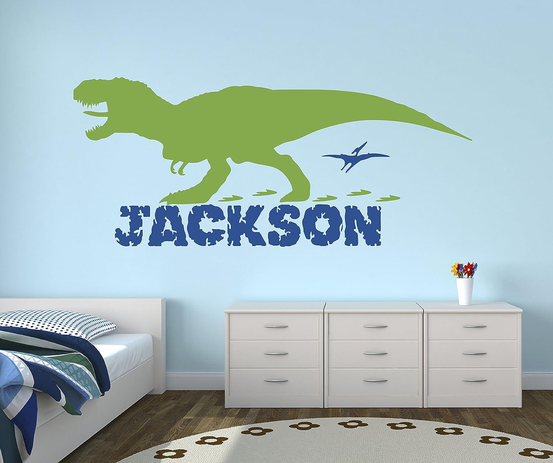 Dinosaur Wall Decal /& Personalized Name Baby Nursery Sticker Kids Room Decor