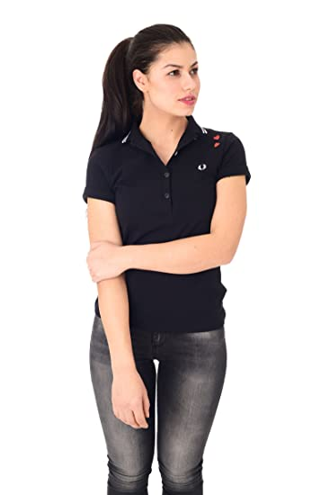 FRED PERRY mujer de manga corta polo SG8620 102 AMY FRED PERRY 34 ...