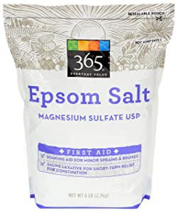 365 by Whole Foods Market, Epsom Salt, Magnesium Sulfate USP (First Aid), 96 Ounce