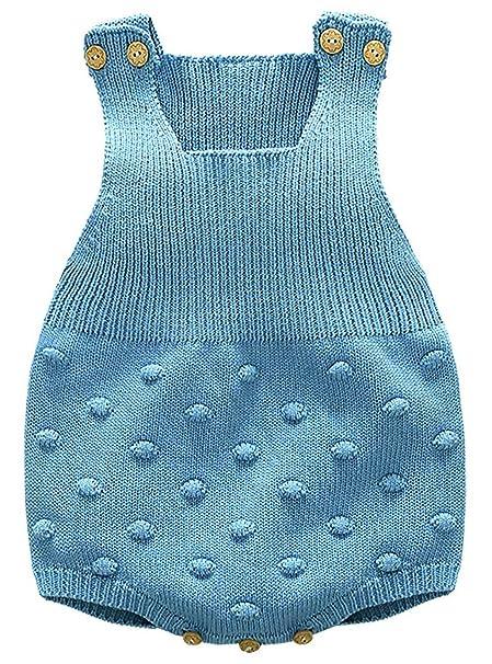 Kookoohouse Bodies Pelele para Dormir para Bebés Recién Nacidos Ropa de Punto Calentitos Invierno - Azul