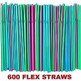 Ikea Soda Straws Flexible (600 Pack) (Blue/Pink/Green)