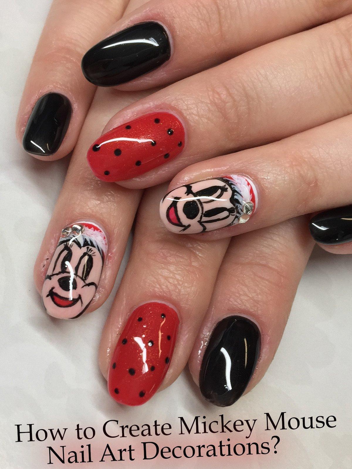 Amazon.com: How to Create Mickey Mouse Nail Art Decorations?: Tanya ...