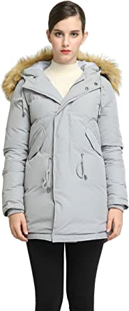 Cromoncent Mens Winter Thicken Stand Collar Zipper Quilted Down Jacket Parka Coat