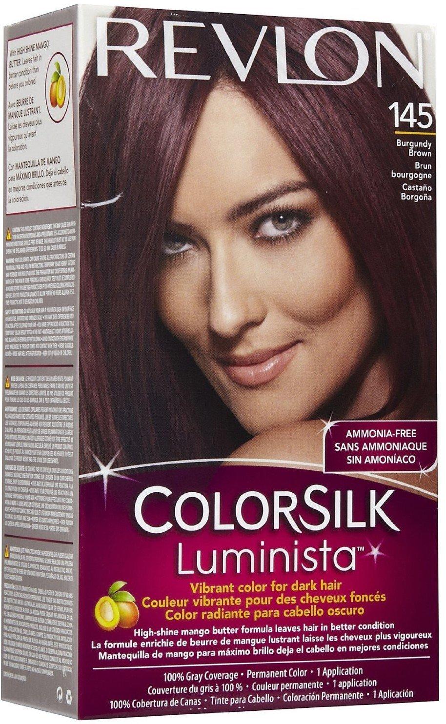 Best Revlon Colorsilk Luminista Hair Color 145 Burgundy Brown 1 Ea