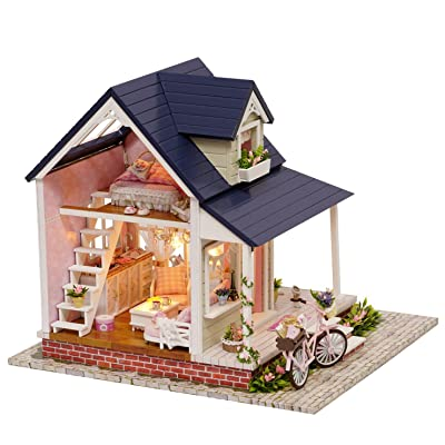 Sunny Room Flever Dollhouse Miniature DIY Music House Kit Creative Room with Furniture for Romantic Valentines Gift Flever®