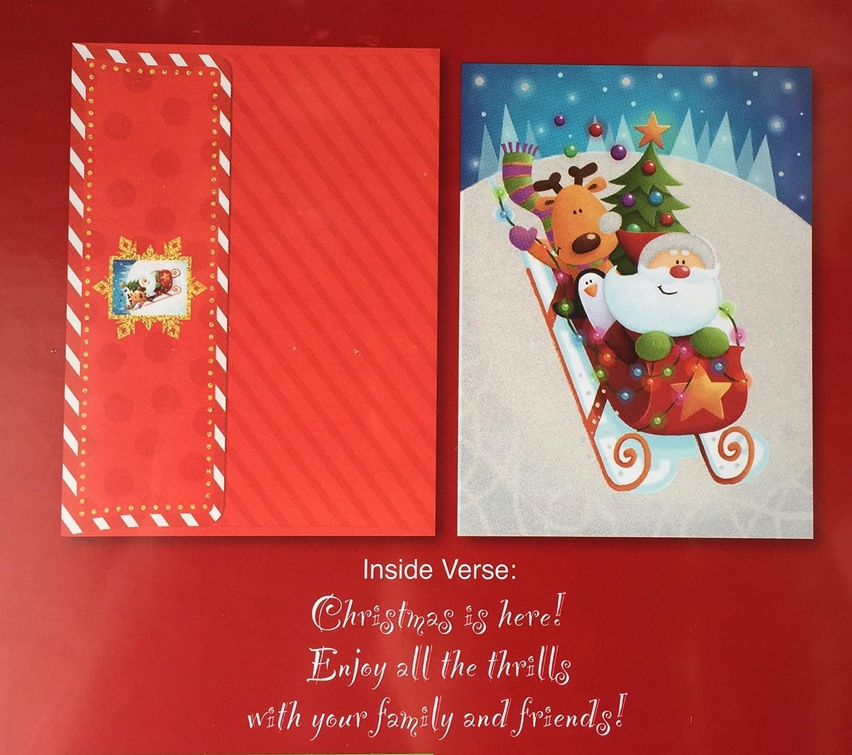 Amazon.com : Burgoyne 40 Christmas Cards with Matching Self-Seal ...