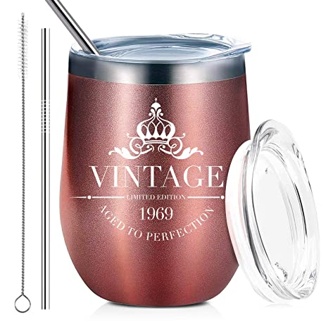 1969 50th Birthday Gifts Wine Tumbler For Women