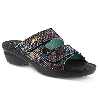 e8be3eeaccaf Flexus Women s Kina Slide Sandals Black Multi