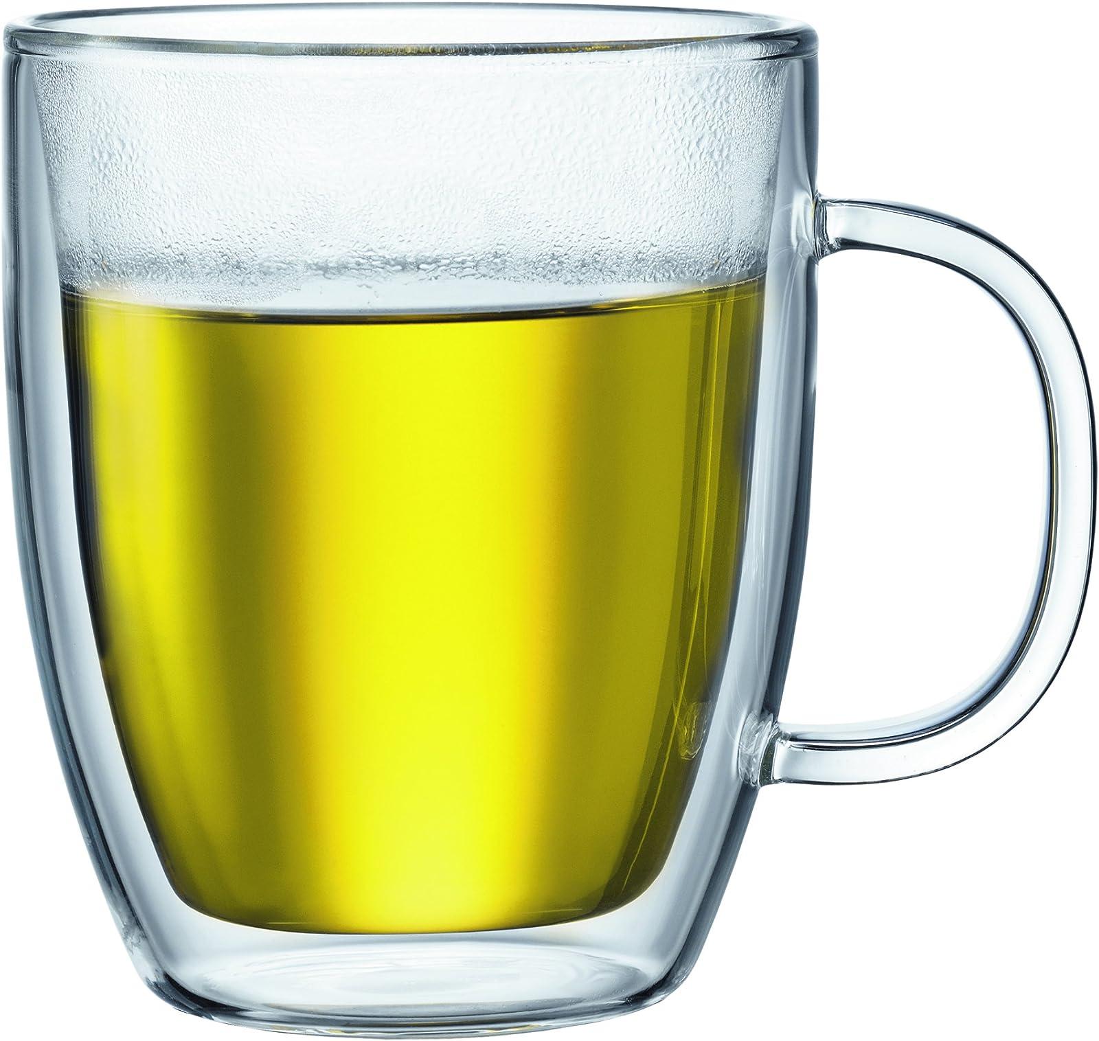 Bodum Glass, Double-Walled Mugs