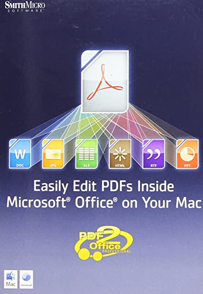 Amazon com: Smith Micro Software Inc  PDF2OFFICE FOR OFFICE (MAC
