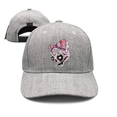 YHNBHI Bowknot Cute Girly Skull Unisex Hip Hop Adjustable Peaked Cap Dad Trucker  Hat fe53d7edfae