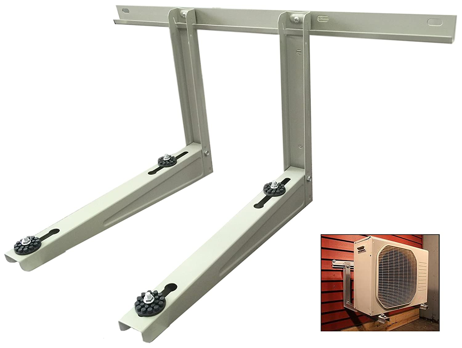Outdoor Mounting Bracket for Ductless Heat Pump Air Conditioner Systems Condenser Mounting Rack Hold Up To 300 LBS Carnot