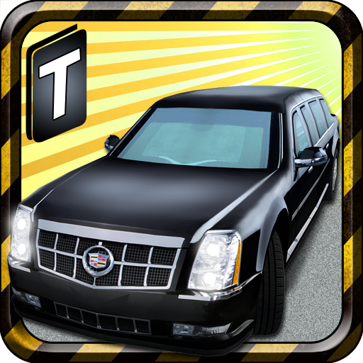 limousine-parking-3d
