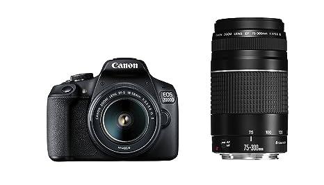 Canon EOS 2000d Cámara Réflex con El Objetivo EF-S 18 - 55 IS II + ...
