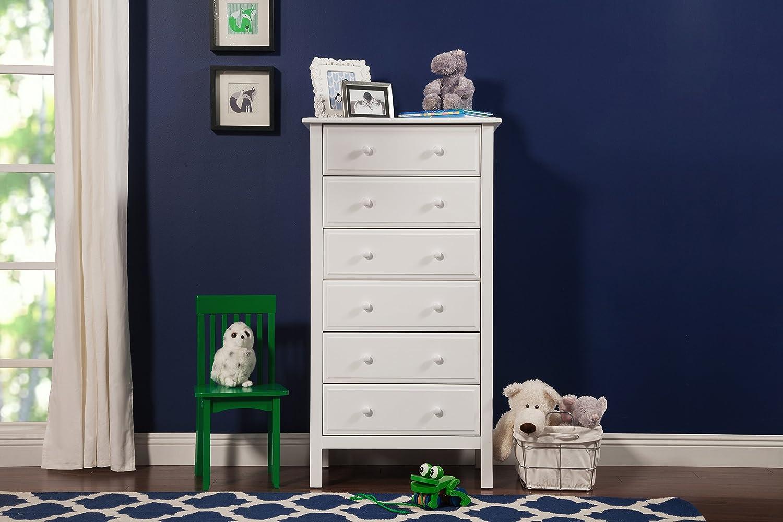 Amazon.com: Davinci Jayden 6 Drawer Tall Dresser, White: Baby