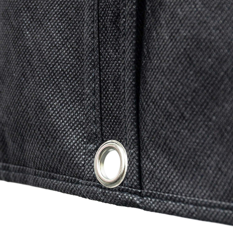 Hangerworld 6 Fundas para Ropa 152cm Transpirable Negro con Cremallera para Vestidos y Trajes