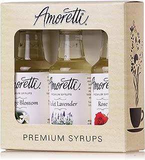 product image for Amoretti Premium Floral Syrups 50ml 3 Pack (Rose, Violet Lavender, Orange Blossom)