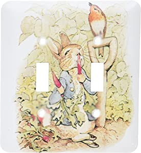 3dRose LLC lsp_110164_2 Peter Rabbit in The Garden Vintage Art Double Toggle Switch