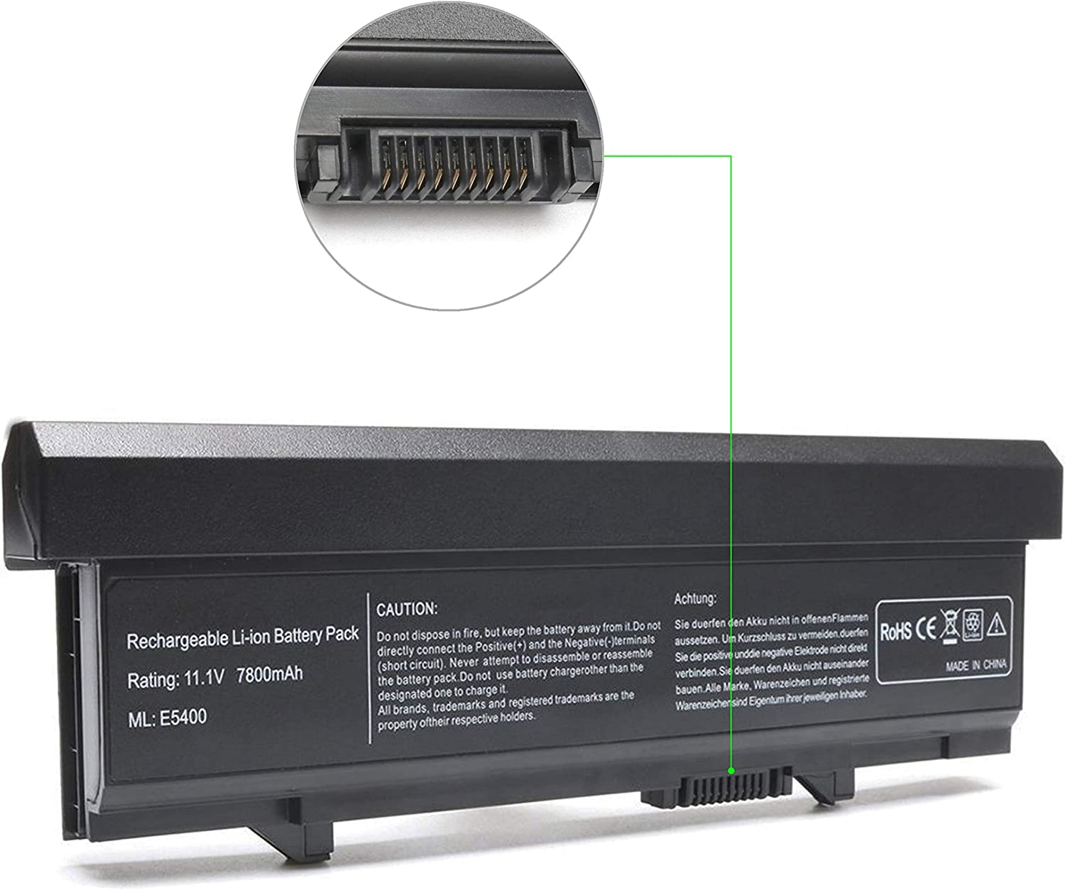 86Wh Laptop Battery Replacement for Dell Latitude E5400 E5410 E5500 E5510,P/N: KM742 WU841 KM668 KM769 KM771 PW640 U116D W071D RM649 RM656 0RM668 312-0762 312-0769 312-0902 451-10616 451-10617