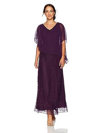 5c08045bbe3 J Kara Women s Pop Over with Beaded Bottom Petite at Amazon Women s  Clothing store