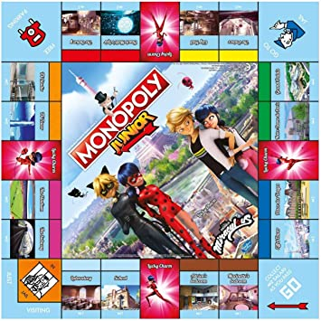 Winning Moves Miraculous Monopoly Junior Board Game - English Version: Amazon.es: Juguetes y juegos