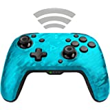 PDP Gaming Wireless Deluxe Controller Faceplate: Blue Camo - Nintendo Switch Faceoff