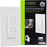 GE Enbrighten 34176 Z-Wave Quad Scene, Portable Wireless Remote, Create One-Touch Control for Zwave Devices Works with or wit