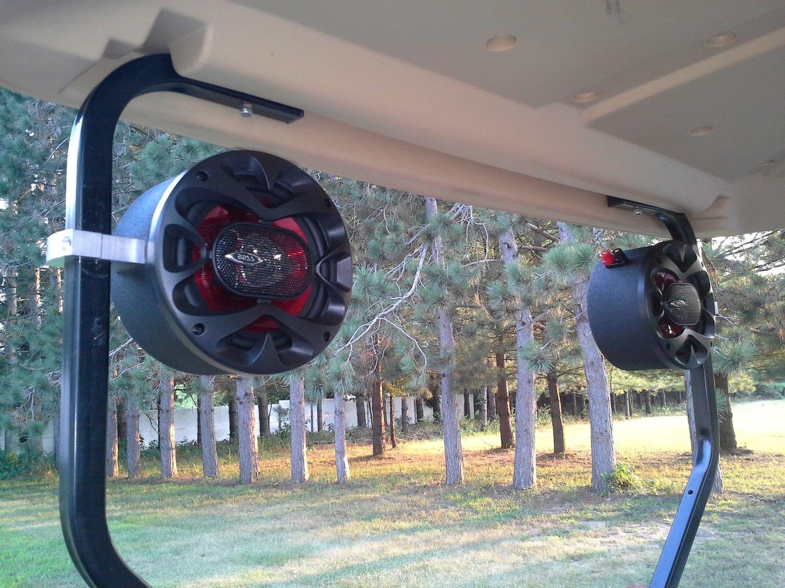 Custom Golf Cart Speakers EZ GO Club Car Yamaha Radio Stereo Pods